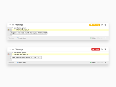 Botfront 0.17 is out! warning natural linking chat entity intent conversation open-source open source validate utterance web app desktop artificial intelligence nlu ai rasa chatbot bot botfront