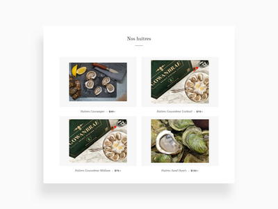 Our Oysters product page products product sales web seafood sea online store shopify ecommerce desktop oyster oysters caviar