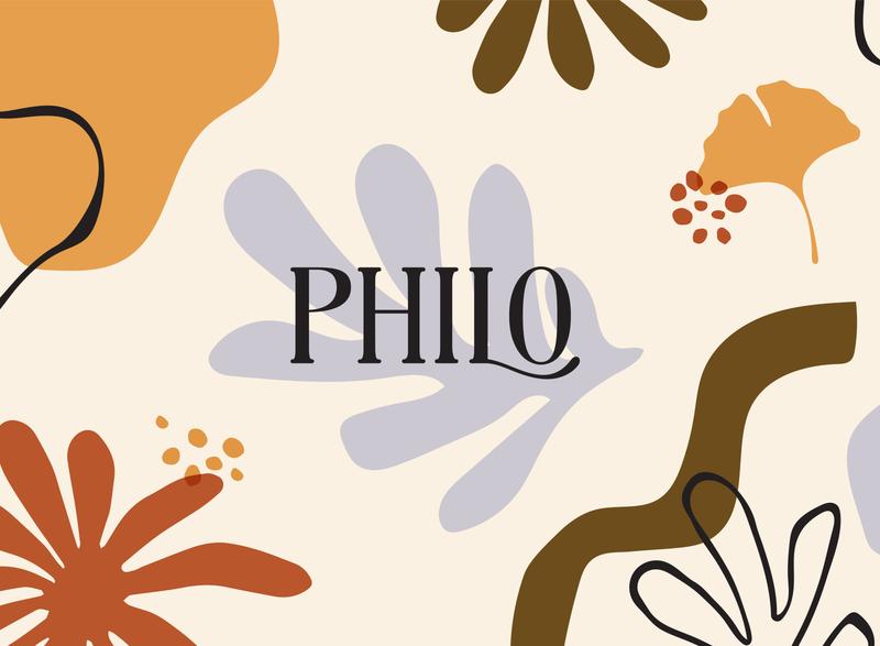 Philo ReBrand simple modern greenville pattern background typography hand lettering hand drawn brand identity flower matisse illustration logo branding florist floral