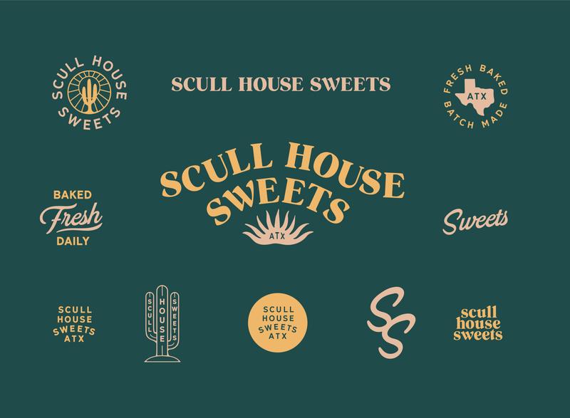 Sweet Branding round stamp symbol illustraion agave cactus modern atx sweets fresh texas austin western mark typography badge branding identity logo bakery