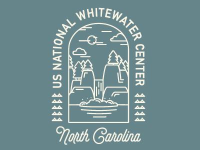 USNWC shirt usa graphic simple logo branding line art north carolina dapper ink landmark landscape whitewater