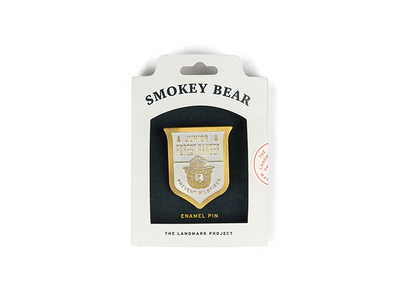 Smokey Bear Enamel Pin bear usa rei junior ranger forest smokey the landmark project sticker packaging pin enamel