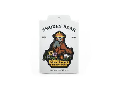 Smokey Bear Sticker illustration vintage smokey forest service wildfire rei the landmark project i love you bear weatherproof vinyl sticker