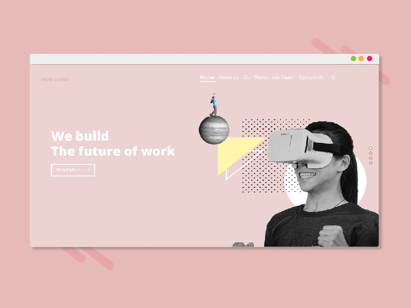 VR Landing Page by ystudio on Dribbble