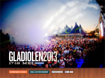 Splash page for Gladiolen 2013