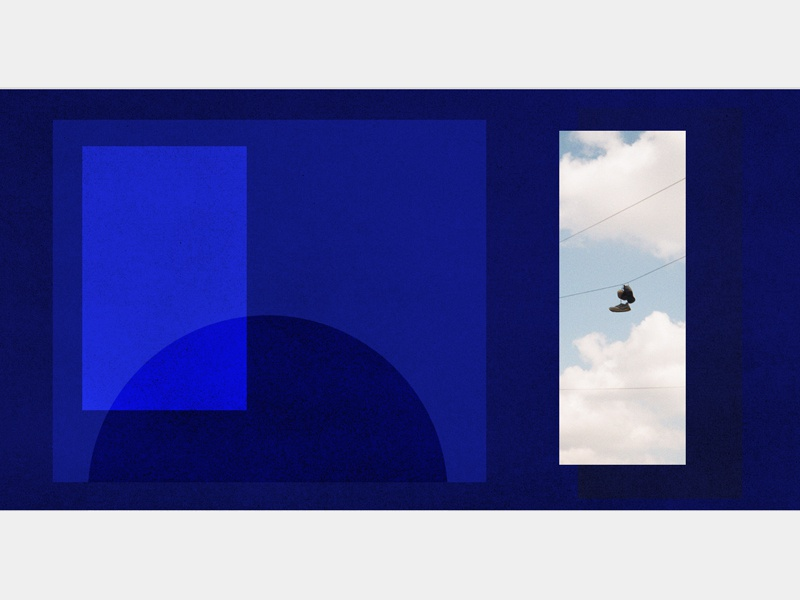 nike art collage transparent shapes clouds nike shoes blue color photography sports