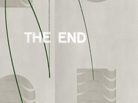 The End Detail black  white 3d design black color texture grain illustration type logo