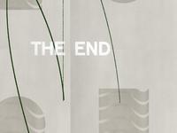The End Detail black  white 3d design black color texture grain illustration type logo