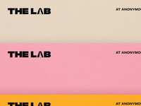 The Lab design branding texture grain color logo