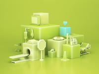 Santalucia Cubes