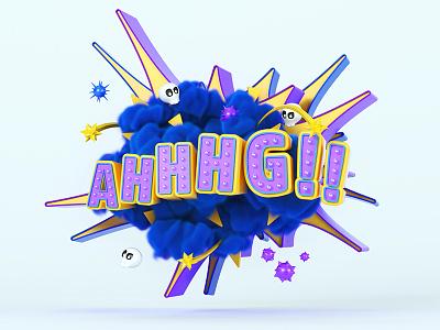 Santalucia AHHHG!! production visual art advertising campaign color render cgi 3d