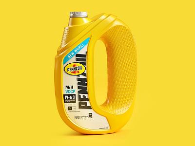 Pennzoil: Facts inspire illustration print advertising campaign jvg color render cgi 3d