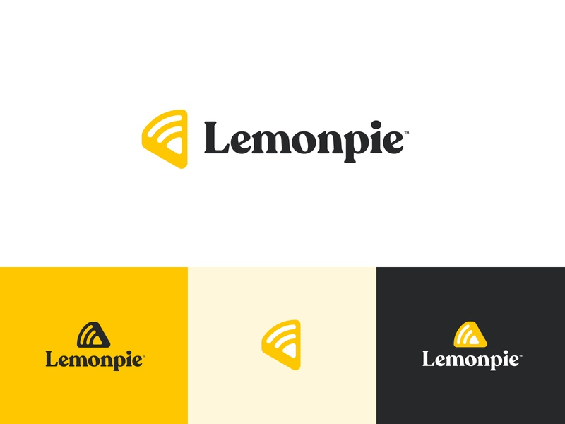 Lemonpie Logo Concept grid logo grid icon identity design yellow pie lemon logotype illustraion logo identity branding logo design