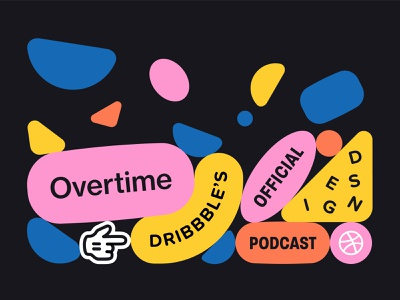 Overtime Concept (Landscape) ui design web design playful flat design vector shapes advertising overtime dribbble promotion ad design color palette bounce gravity shapes podcast