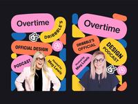 Overtime Concepts (Portrait) web design vector shapes ui ui design shapes promo podcast playful overtime flat design dribbble color palette bounce advertisment ad design
