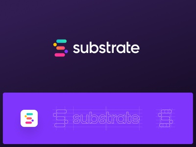 Substrate alt Logo substrate science logotype logo grid design agency logo designer brand design logo design logo construction icon grid icon freelancer color palette colorful brand identity app icon app design