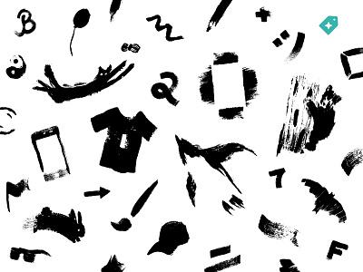 Black Friday Sale Illustrations animals brand designer freelance designer freelancer creative market ad campaign illustraion brush black and white ink brush cyber monday black friday