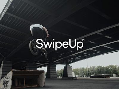 Swipe Up Logo rebranding up brand designer motion design logo grid custom type simple design social media video swipe up freelance designer logo designer logo design brand design logotype logo rebrand