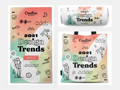 2021 Trends freelance designer freelancer package design packaging sustainable wonderlust travel illustration geometric gradients serif typeface serif fonts ad design ad 2021 design 2021 trend 2021 instagram stories instagram post social media