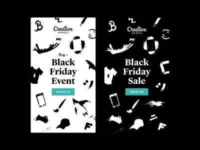 Black Friday Instagram Stories brushes serif ad design marketing creative market process instagram instagram stories social media illustraion freelance designer brand designer animals black and white black friday