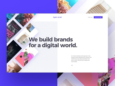 Type + Pixel home page final