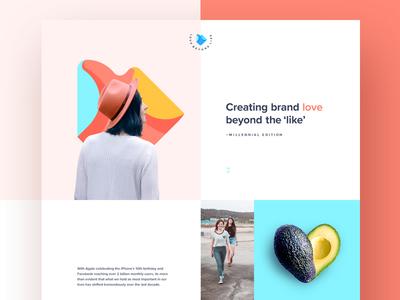 Love Beyond Like Website web design ui flat colours millennials social media one page website minimal branding minimal ui logo design digital agency clean ui branding