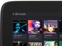 Ubuntu Music App - Tablet
