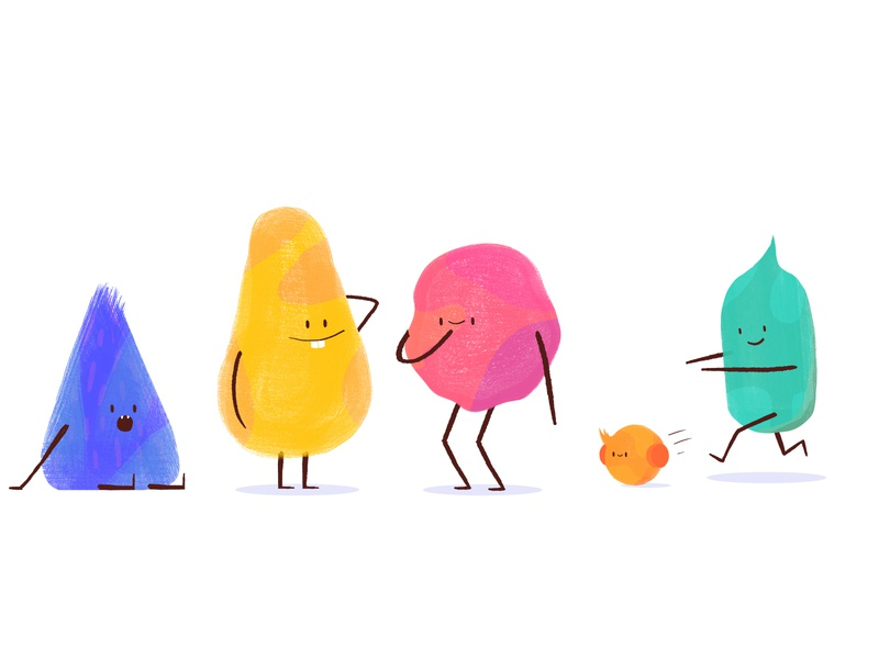 Fiddles color creatures forest little 2d characterdesign design character thelittlelabs animation illustration