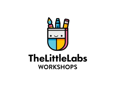 The Little Labs Kids Workshops illustration la losangeles workshops kids logo labs little