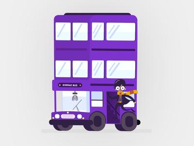 Knight Bus harry potter decker double purple triple collectible mule sticker potter harry bus knight