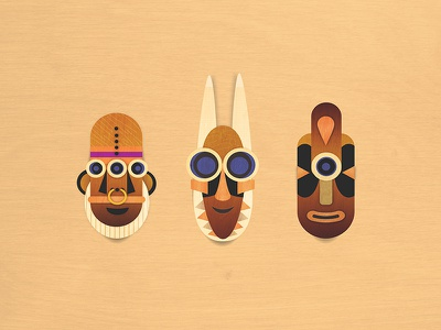 Smiley Masks patterns tribal smiley faces happy tribe mask african american south