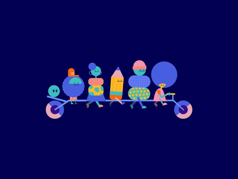 follow us for the funky behavior little studio character design animation thelittlelabs illustration