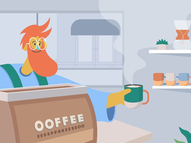 Ooffee Style frame barista coffee styleframe mograph inspiration characters art characterdesign motiondesign design character studio thelittlelabs animation illustration