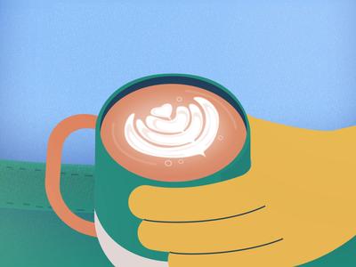 Making Coffee Art thelittlelabs coffee art illustration character design character animation animation latteart latte coffee