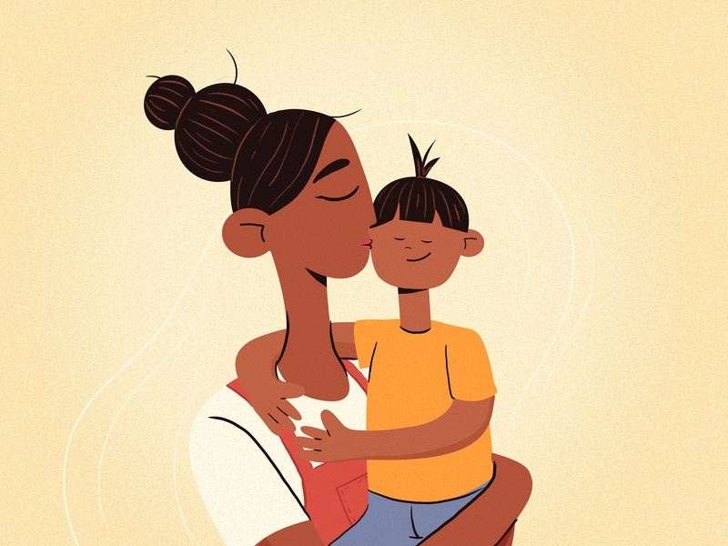 Mom mother mummy mother and child child mom mothers day character design thelittlelabs illustration