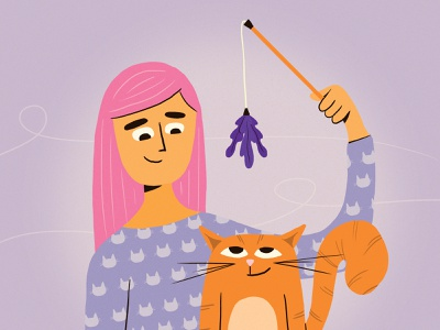 Cat Mom cat cat mom mother mom character thelittlelabs illustration