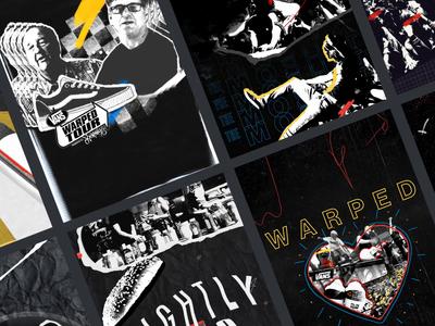 25 Years of Vans Warped Tour design illustration thelittlelabs rock skateboarding punk warpedtour vans covers titles cel animation music