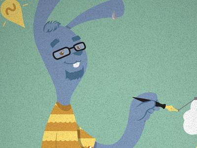 Coelho Fox cartoon fun vector illustration bunny geek illustrator nerd