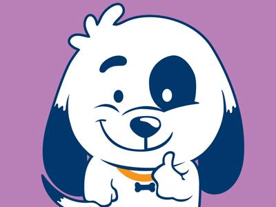 Dog cartoon fun vector illustration dog happy