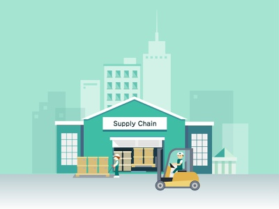 Warehouse illustrations warehouse supply chain animation design animation branding design illustration aircraft