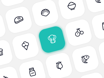 Iconography ui ux transition outline stroke pictograms icon set pictogram app design mobile activities icon food app details icons interface clean