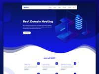 Hostring - Hosting and Domain Company Website Concept
