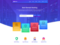 Hostring -WHMCS  Hosting and Domain Company Website Concept