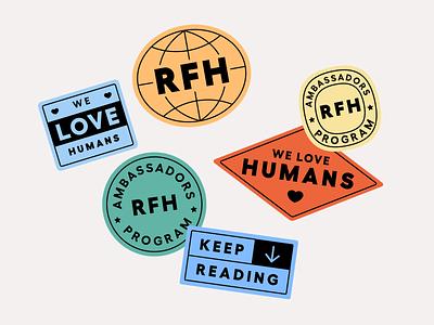 Resources for Humans stickers 👑 illustration sticker vintage stickers branding