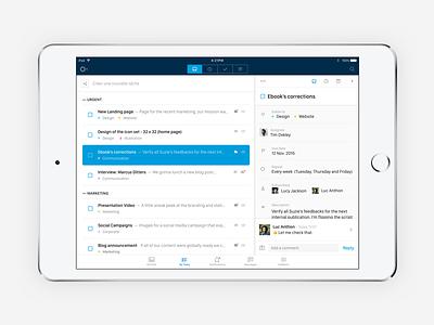 Azendoo — Tasks for iPad list mobile interface ux ui task ios ipad