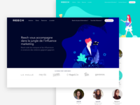 Reech – Landing pages