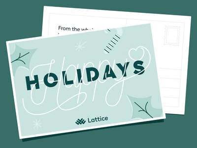 Lattice: Happy Holidays 💌 handlettering happy holidays holidays greeting card typogaphy