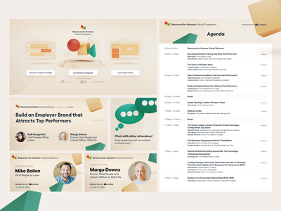 Virtual Conference Environment Design 🎥 3d agenda ads branding collaterals