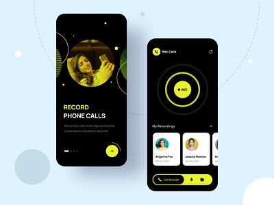 Call Recorder App mobile app record phone calls ui call recorder