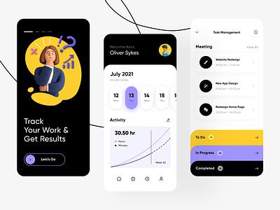 Project Management Concept App ios app design task management ui design new design project management mobile app